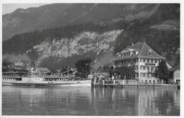 "ISELTWALD → Strandhotel Mit Raddampfer ""Jungfrau"" Fotokarte Ca.1940 - BE Berne"