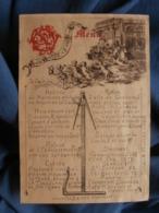 Menu Souvenir Exposition 89, Symboles Compagnonnage Ou Maçonnique L448 - Menus