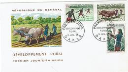 Enveloppe 1er Jour SENEGAL -  Développement Rural - Dakar 1965 - Senegal (1960-...)