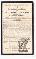 DP Hilaire Decap De Cap ° Woesten Vleteren 1888 † Vlamertinge Ieper 1933 X Madeleine Borteel - Imágenes Religiosas