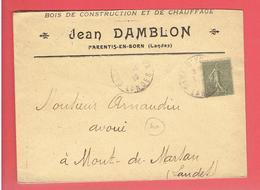 ENVELOPPE 1919 BOIS DE CONSTRUCTION ET CHAUFFAGE JEAN DAMBLON A PARENTIS EN BORN LANDES POUR MONT DE MARSAN - 1900 – 1949