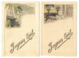 Illustrateur G. Bussiere Joyeux Noel Lot De 2 CPA - Illustrateurs & Photographes
