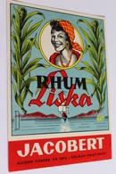 Etiquette Neuve Jamais Servie RHUM LISKA Jacobert  Colmar - Rhum