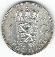 The Netherlands 1967, 1 Gulden, Silver - [ 3] 1815-… : Koninkrijk Der Nederlanden