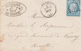 Cachet Bureau De Passe Chaumont -lettre Du Seminaire De Luxeuil - Railway Post
