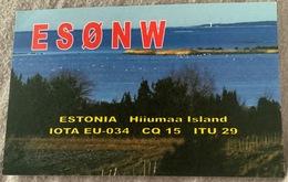 Qsl Card Estonia Hiiumaa Island IOTA EU 034 From The Year 2010 - Amateurfunk