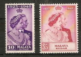 MALAYA - KEDAH 1948 SILVER WEDDING SET SG 70/71 UNMOUNTED MINT Cat £28.20 - Kedah