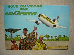 Avion / Airplane / AIR AFRIQUE / Douglas DC-10 / Self Adhesive / Airline Issue - 1946-....: Era Moderna