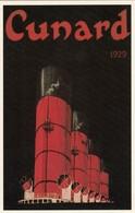Postcard Advertising Cunard Liner Mauretania In 1929 [ Reproduction ] My Ref  B23666 - Advertising