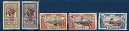 """Martinique YT 105 à 110 Ss 109 """" Surchargés """" 1924 Neuf* - Martinique (1886-1947)"""