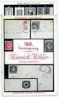 160. Köhler Briefmarken Auktion 1956 - Seltener Auktionskatalog Mit Den Bildtafeln - Auktionskataloge