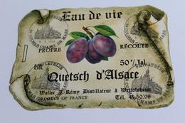 Etiquette Neuve Jamais Servie  EAU DE VIE D ALSACE  QUETSCH Propre Recolte Maller Jremy Distillateur Wettolsheim - Etiquettes