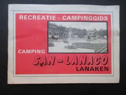 LIVRET PUBLICITAIRE BELGIQUE (V1910) LANAKEN (2 VUES) Camping SAN-LANACO Recreatie - Campinggids 1981 - Lanaken