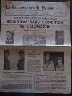 """RARE - BAYEUX  - Journal  """"La Renaissance Du Bessin """"  Lot De 3 Numéros Dont  Le 9 Mai 1945 - Autres"""