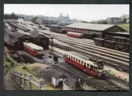 """Photo-carte Ferroviaire """"Deux Renault VH En Gare De Granville"""" Années 60 - SNCF - Chemin De Fer - Granville"""