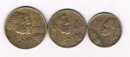10 +20 + 50 PARA 1955 JOEGOSLAVIE /4925/ - Yougoslavie