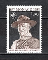 MONACO N° 1334   NEUF SANS CHARNIERE COTE 1.60€   BADEN POWELL - Unused Stamps
