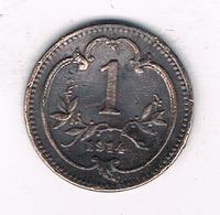 1 HELLER 1914 OOSTENRIJK /4928/ - Autriche
