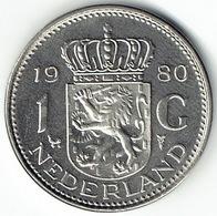 The Netherlands 1980, 1 Gulden - [ 3] 1815-… : Koninkrijk Der Nederlanden