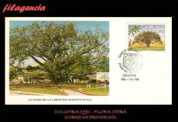 AMERICA. COLOMBIA SPD-FDC. 1990 FLORA. CEIBA - Colombia