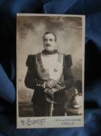 Photo CDV P. Claret à Paris - Beau Portrait Militaire (rené Champème) Du 1e Cuirassier Circa 1895 L450 - Photographs