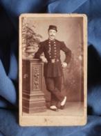 Photo CDV A. Bastier à Limoges - Militaire Du 78e D'infanterie En Pied, épinglette Prix De Tir Circa 1890 L450 - Oud (voor 1900)