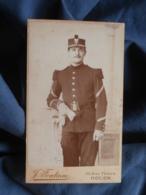 Photo CDV J. Fontaine à Rouen - Militaire Sergent Fourrier Du 39e D'infanterie Après 1900 L450 - Oud (voor 1900)