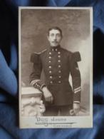 Photo CDV Duc Jeune à Grenoble - Militaire (georges Chansardon) Sergent Du 4e Génie, Insigne Bon Tireur L450 - Photographs
