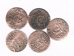 5X SCHILLING 1660-1665 LIVONIA LETLAND /4931/ - Lettonie