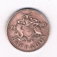 ONE CENT 1980 BARBADOS /4936/ - Barbades