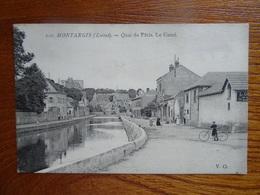 """Belle CPA  Animée  """"MONTARGIS - Quai Du Pâtis - Le Canal""""   V.O.   Circulée En 1910   Très Bon état - Cheverny"""