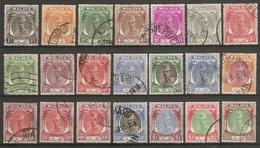 MALAYA - KELANTAN 1951 - 1955 SET OF 21 STAMPS SG 61/81 FINE USED Cat £200 - Kelantan