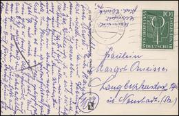 217 Ausstellung WESTROPA 10 Pf EF Bedarfs-AK Wuppertal-Elberfeld 24.10.55 - Briefmarkenausstellungen