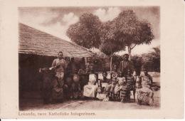 250515Lokandu, Twee Katholieke Huisgezinnen (gauche Sup. Petite Déchirure) - Congo Belga - Otros