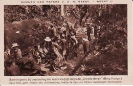 250516Bedrijvigheid Bij Den Aanleg Der Spoorweglijn Langs De Groote Meren (See Corners) - Congo Belga - Otros