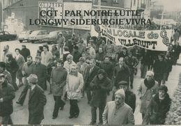 010 - POLITIQUE - GREVES - CGT PAR NOTRE LUTTE LONGWY SIDERURGIE VIVRA  22.12.78 - Syndicats