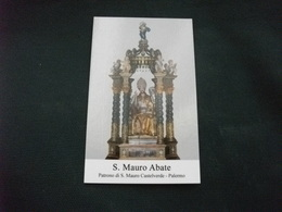 SANTINO HOLY PICTURE IMAGE SAINTE SAN MAURO ABATE PATRONO DI S. MAURO CASTELVERDE PALERMO - Religione & Esoterismo