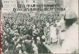 019 - POLITIQUE - GREVES - CGT PAR NOTRE LUTTE LONGWY SIDERURGIE VIVRA   24.01.79 - Gewerkschaften