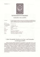 1964  Erläuterungsblatt: Europa (CEPT) 1964 - 1945-.... 2. Republik