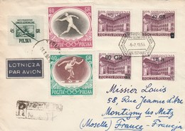 Lettre Reco Pour La France - Covers & Documents