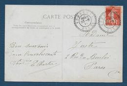Oise - Cachet  Pointillé  VERNEUIL - Marcophilie (Lettres)