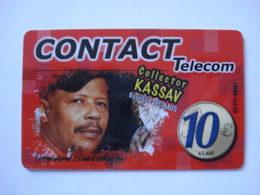 """Carte Prépayée Française Des Iles """" CONTACT Telecom """" (utilisée Luxe). - Mobicartes (recharges)"""