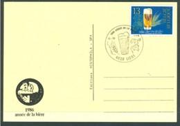19/6 (zch24) Belgique Belgie Biere Bier Cerveza Beer Ale Carte FDC 1986 4020 Liege Luik Luttich - Bières