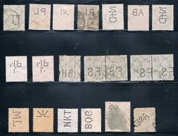 Perfins - Lochungen  (2 Bilder) - Briefmarken