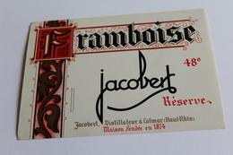 Etiquette Neuve Jamais Servie   JACOBERT  FRAMBOISE     Colmar - Etiquettes