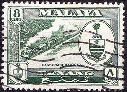 MALAYA PENANG 1960 8c Myrtle Green SG59 Fine Used - Penang