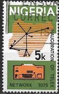 NIGERIA 1975 Inauguration Of Telex Network - 5k Telex Network And Teleprinter FU - Nigeria (1961-...)