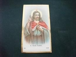 SANTINO HOLY PICTURE IMAGE SAINTE S. GIUDA TADDEO BORDO COLOR ORO 4165 - Religion & Esotérisme