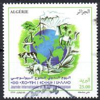 ALGERIA 2018 1v - Used Biodiversity Environment Biodiversität Biodiversité Environnement Camel Shark Cow Bear Energy - Protezione Dell'Ambiente & Clima