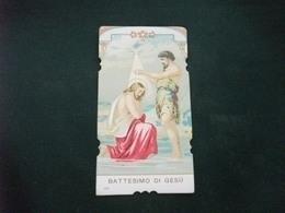SANTINO HOLY PICTURE IMAGE SAINTE BATTESIMO DI GESU' 172 - Religione & Esoterismo